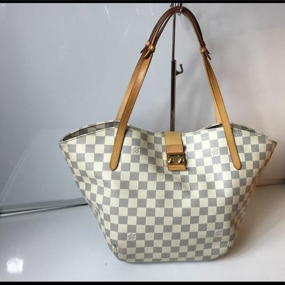 557c57c096a5 Louis Vuitton Handbags - 100% Authentic Louis Vuitton Damier Azur Salina PM